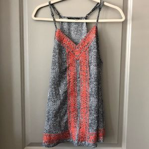 Like new boho print tank with embroidered detail!